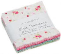 "First Romance - Mini Charm by Kristyne Czepuryk for Moda Fabrics - 42 x 2.5"" fabric squares (1)"